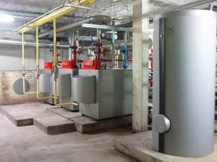 """Résidence """"Les trois moulins"""" à Angers : Chaudières à condensation, Production ECS, GTB, GTC, Contrat de Performance énergétique"""
