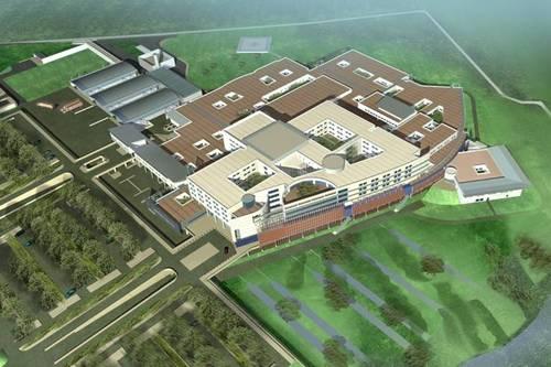 Hôpital de Calais: Sous-stations Chauffage, Eau Glacée; plafonds et planchers chauffants rafraichissants, CTA, GTB, GTC